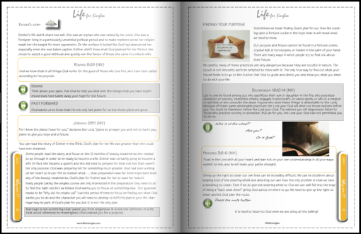 life for singles facilitator's guide/workbook, who am I, discovering your purpose, understand why God created you. Christian course with leader's notes and instructions.
