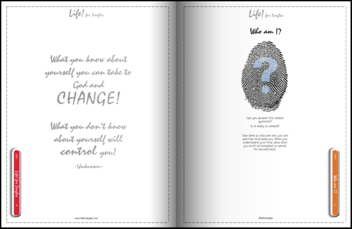 life for singles workbook, who am I, discovering your purpose, future and identity, Christian course